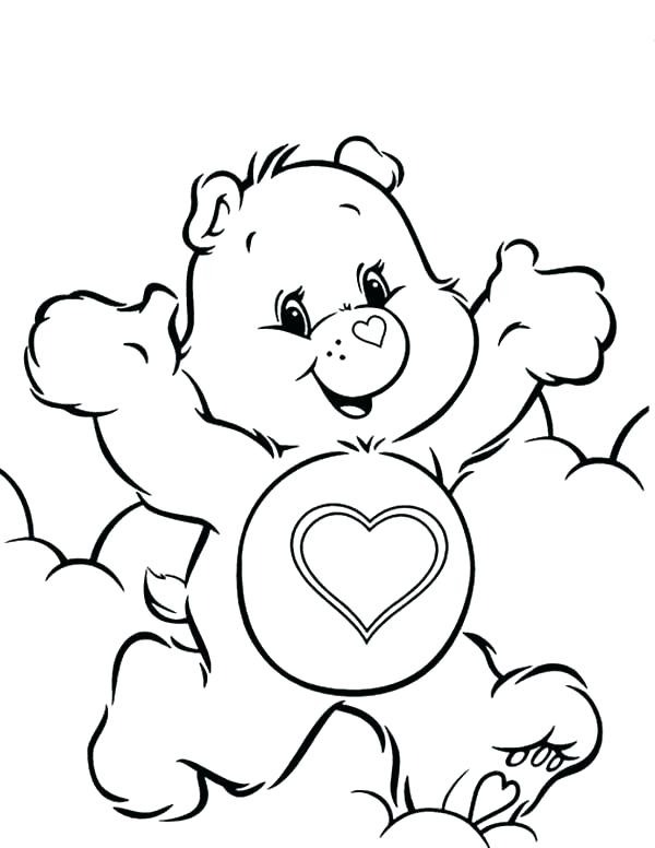 600x776 Care Bear Coloring Page