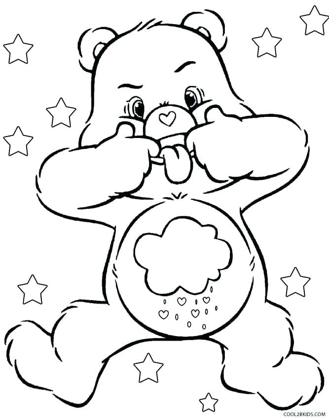 667x850 Care Bears Coloring Pages