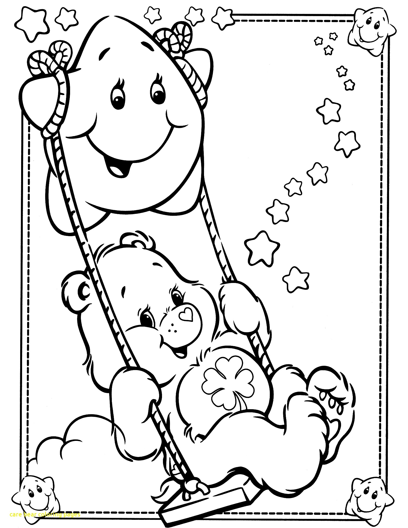 1700x2200 Care Bear Coloring Pages With Best Care Bears Coloring Pages 64