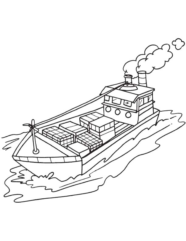 612x792 Cargo Ship Coloring Page Download Free Cargo Ship Coloring Page