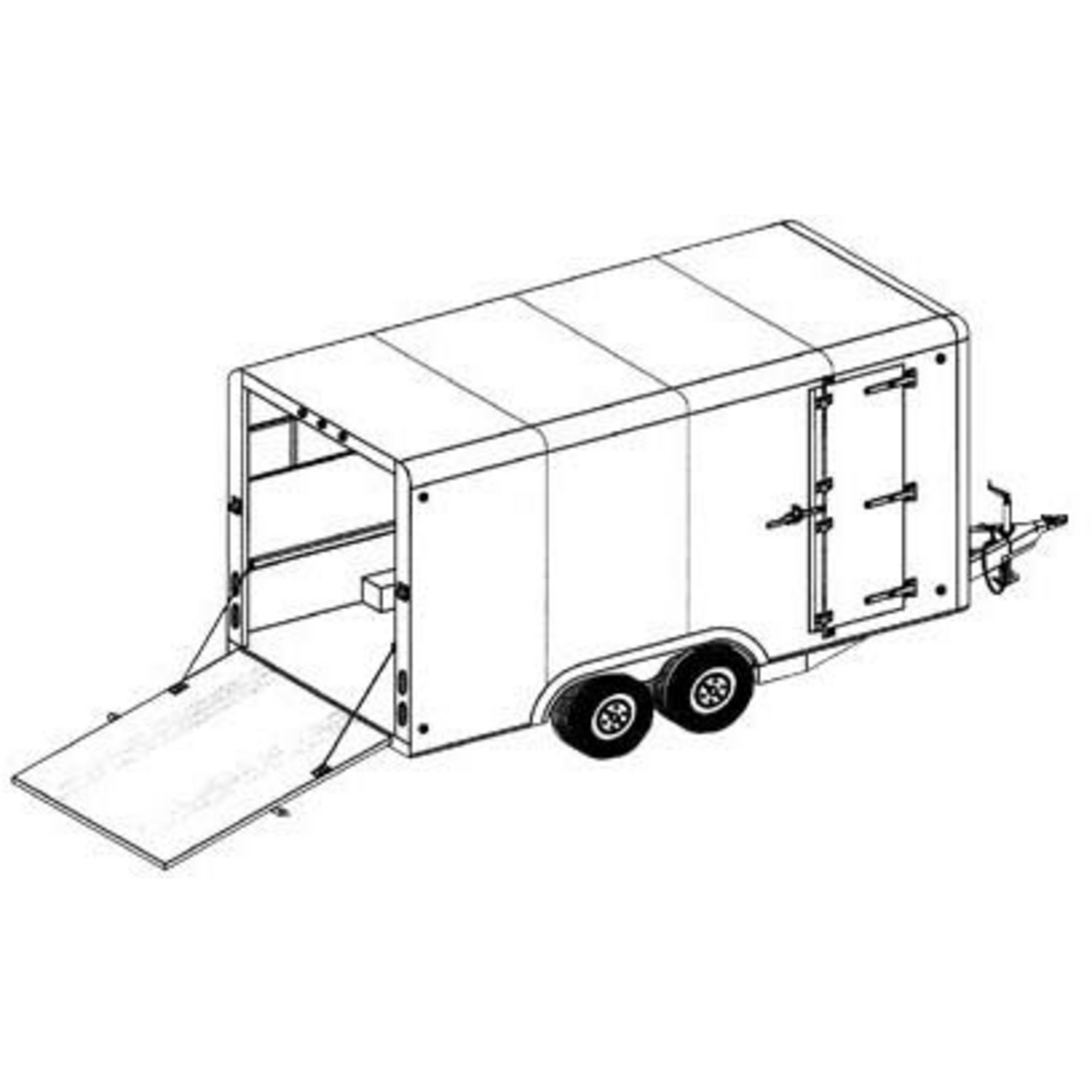 2000x2000 Covered Cargo Tandem Axle Trailer Blueprints Northern Tool +