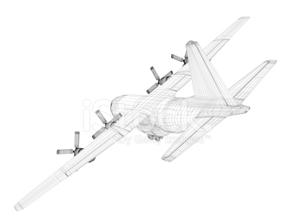 586x440 3d Sketch Architecture Cargo Military Transport Airplane Lockh