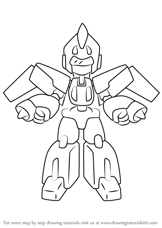 567x800 Learn How To Draw Skycargo From Medabots (Medabots) Step By Step