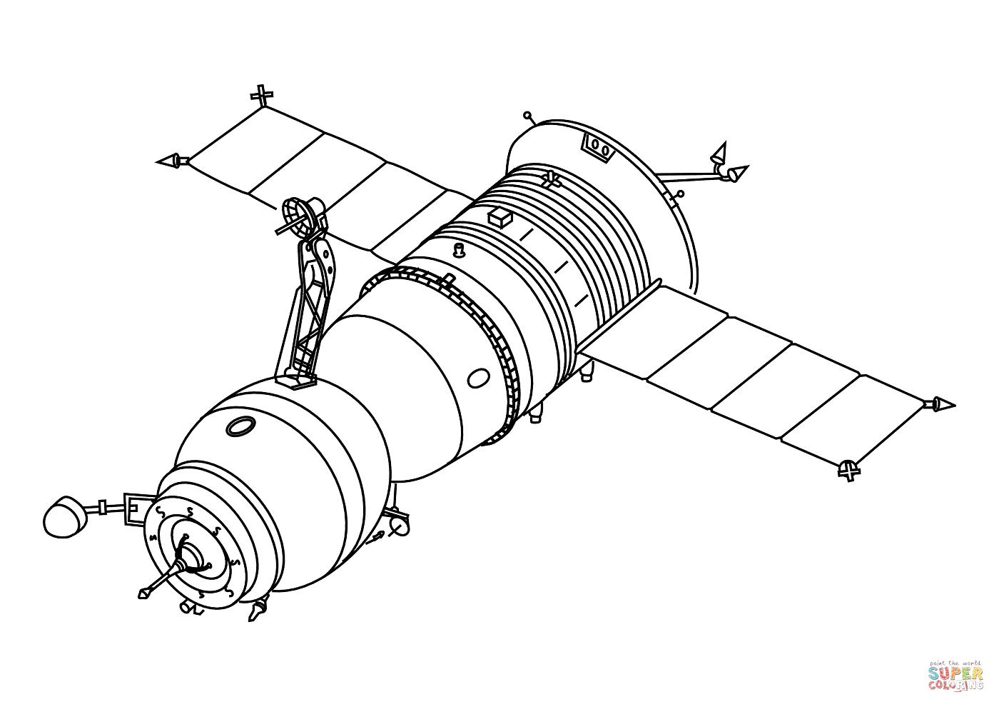 1400x990 Progress Cargo Spacecraft Coloring Page Free Printable Coloring