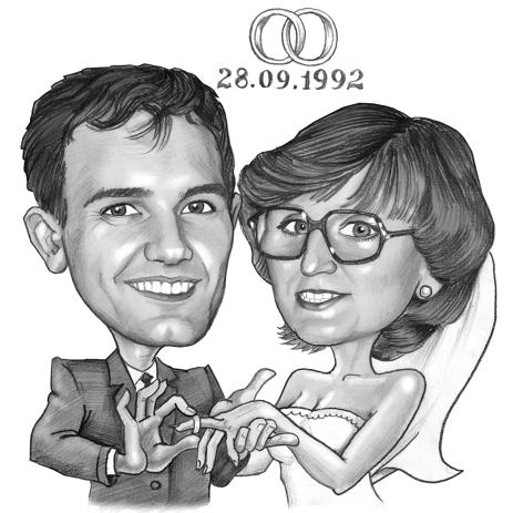 463x463 Caricatures By Pencils For Wedding Anniversary Gifts