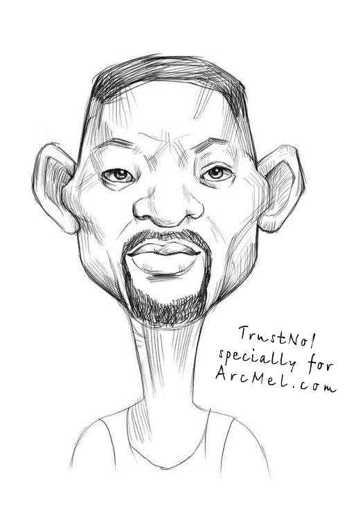 501x768 How To Draw The Caricature Of Will Smith Step By Step