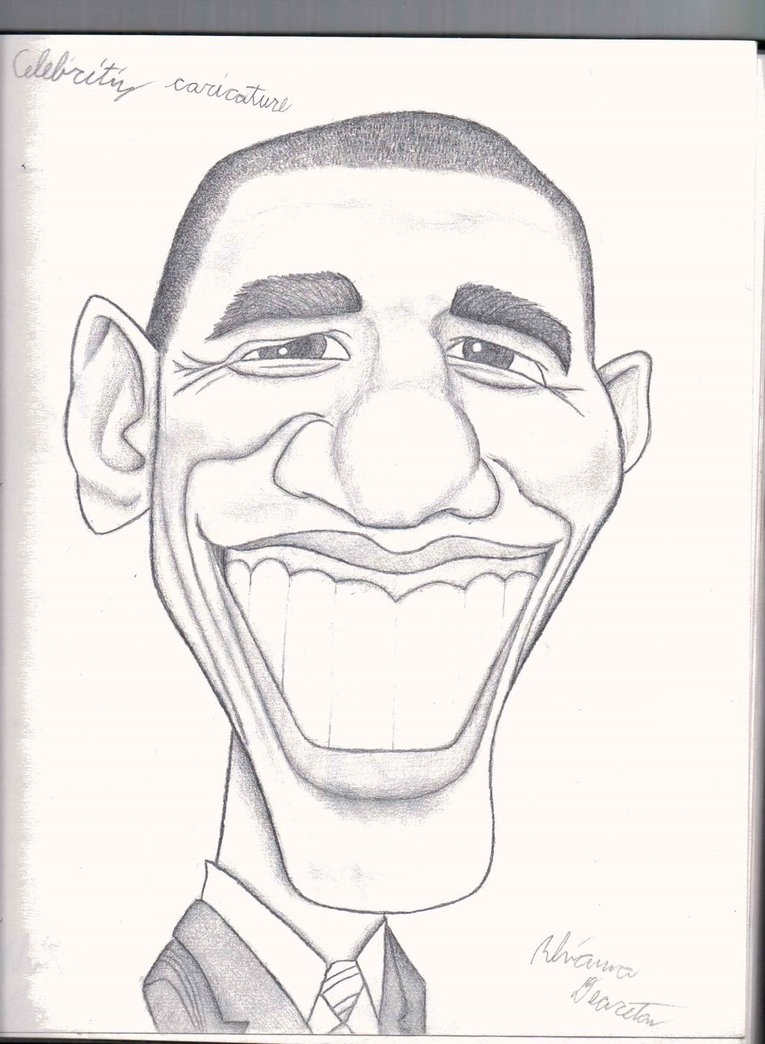 765x1044 Obama Caricature (Pencil) By Pupster0071