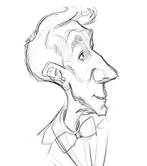 300x338 Using The Reilly Method For Bill Nye Caricature Proko