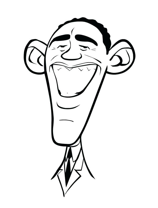 600x788 Obama Coloring Page Coloring Page Caricature Of Printable Barack