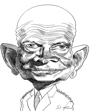 300x372 Oscar Berger Caricature Of Dwight Eisenhower Caricatures