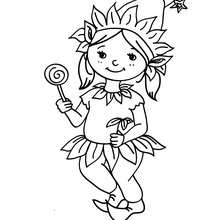 220x220 Elf Carnival Costume Coloring Pages