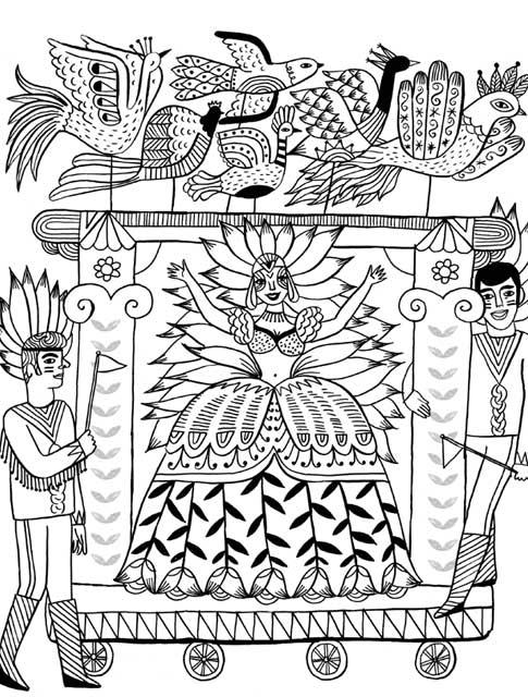 485x640 Just Add Color Carnival 30 Original Illustrations To Color