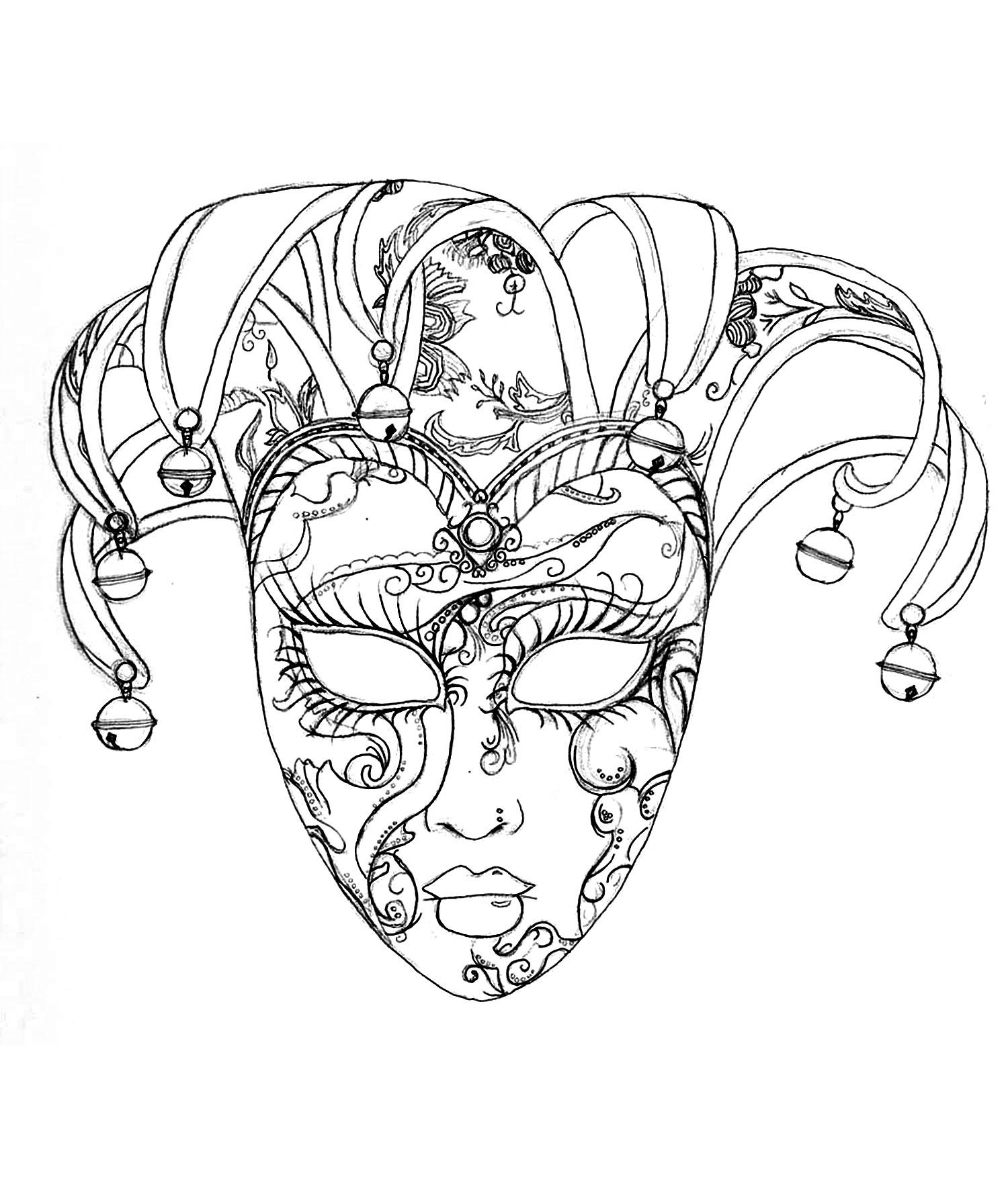 1500x1769 Venice carnival mask Carnival
