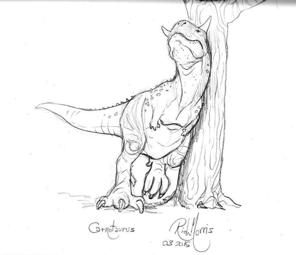 964x829 009 Carnotaurus Scratching By Gorpo