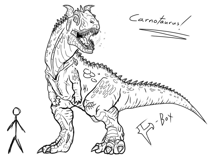 carnotaurus drawing at getdrawings com