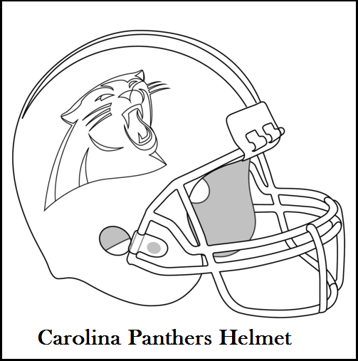 503x507 Carolina Panthers Helmet Coloring And Drawing Page Sport