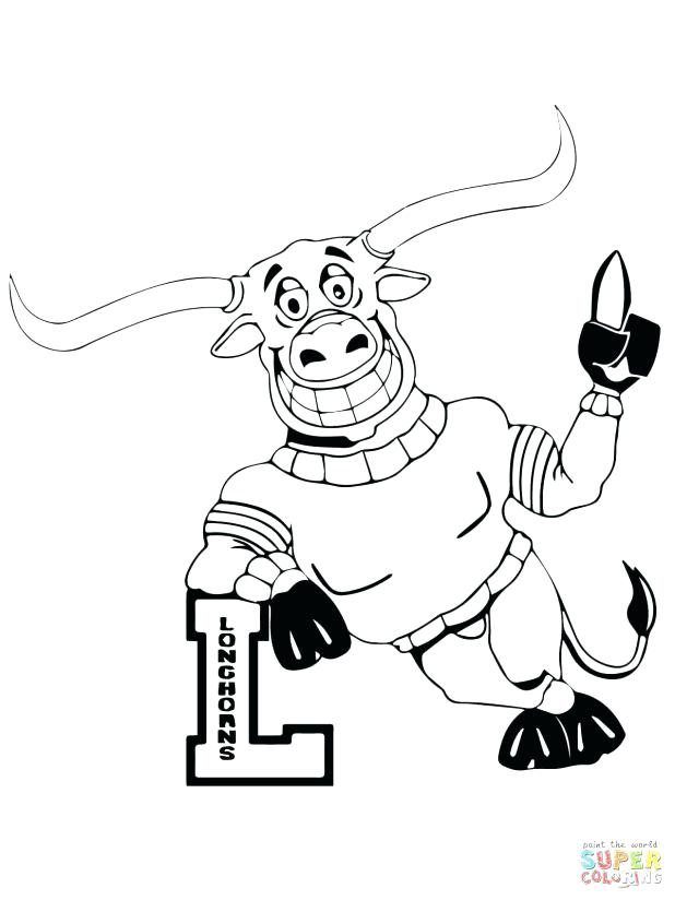 618x824 Carolina Panthers Coloring Pages Longhorn Mascot A Panthers