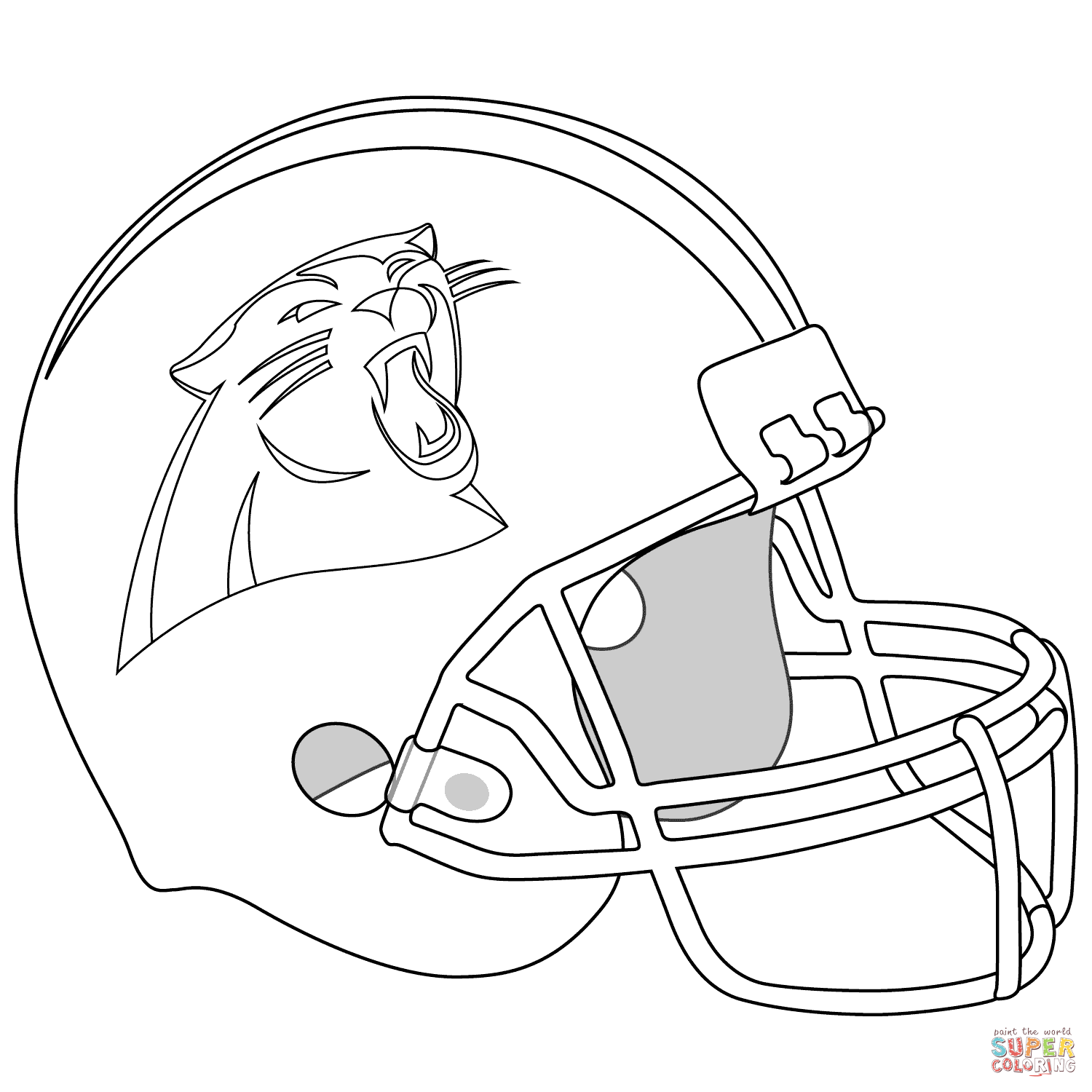 1500x1500 Coloring Pages Carolina Panthers Coloring Pages Helmet Page