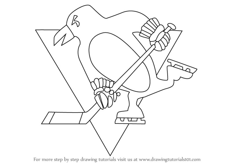 800x565 Learn How To Draw Pittsburgh Penguins Logo (Nhl) Step By Step