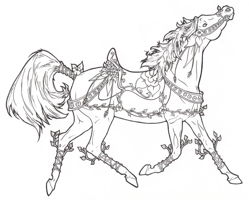 800x642 Carousel Horse Vines N Flowers By ReQuay On DeviantArt