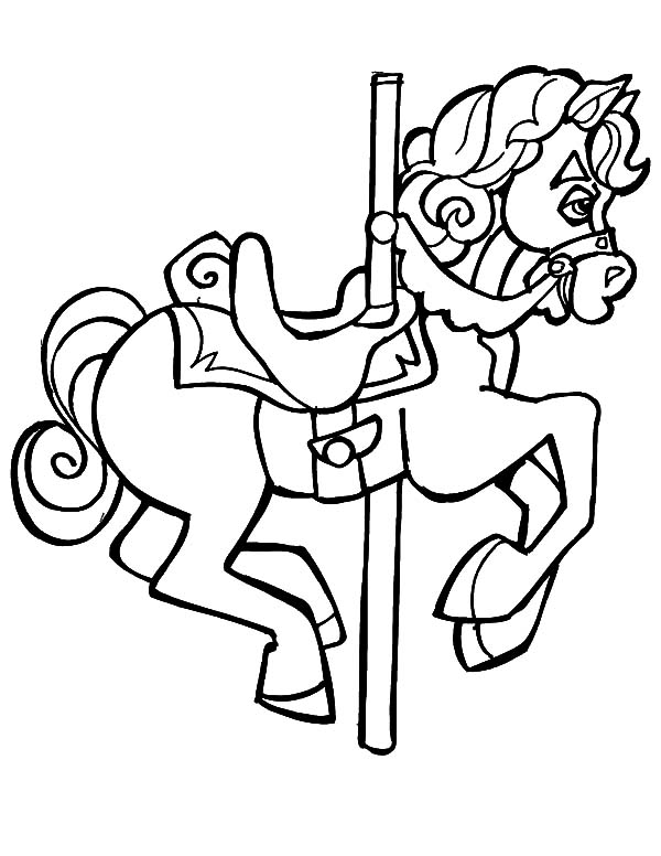 600x776 Drawing Carousel Horse Coloring Pages Best Place To Color