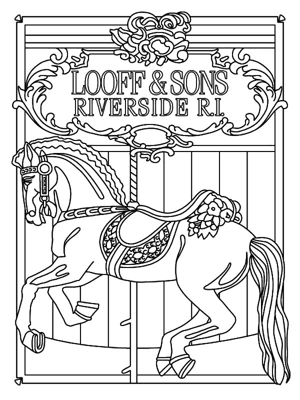 600x800 How To Draw Carousel Horse Coloring Pages Best Place Color