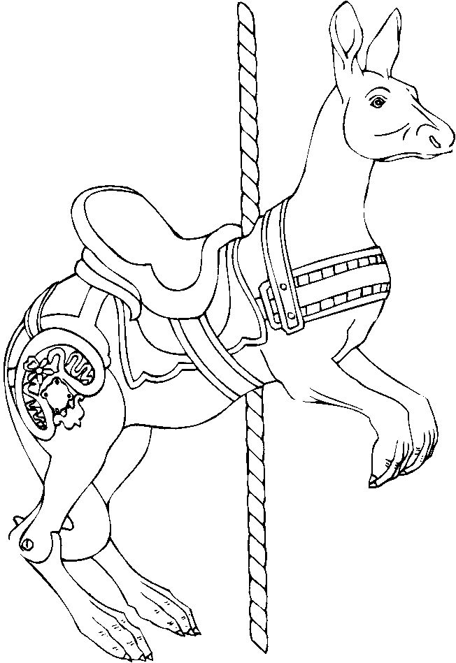 652x949 Carousel Animals Coloring Pages