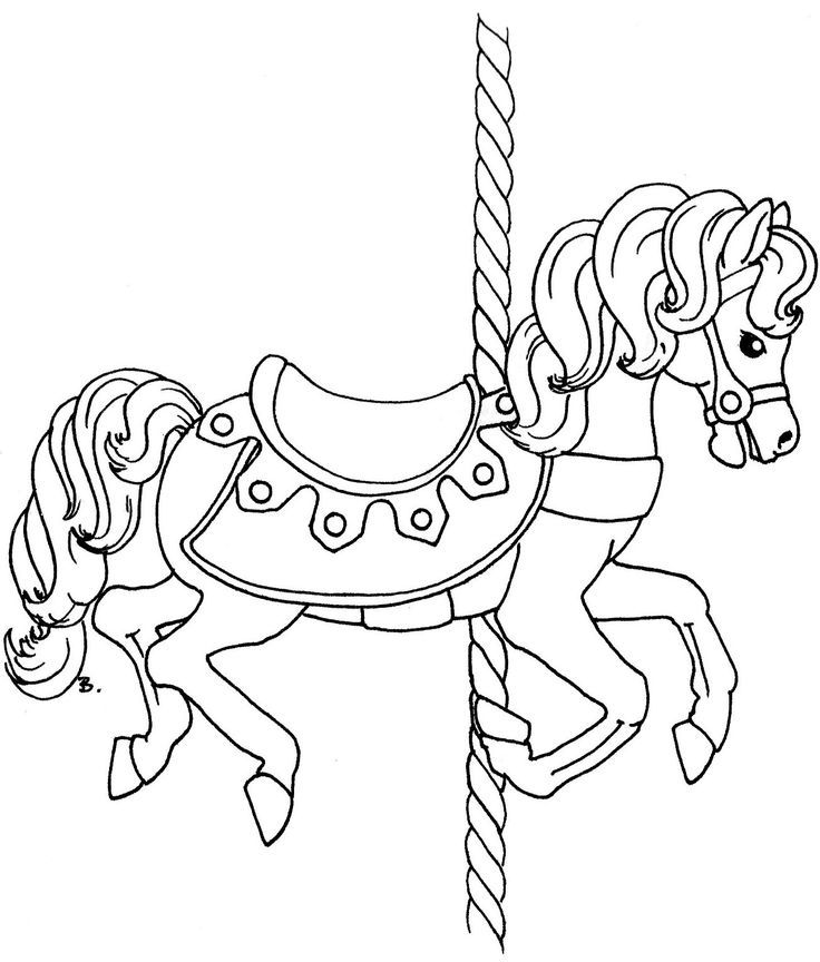 736x864 Carousel Coloring Pages