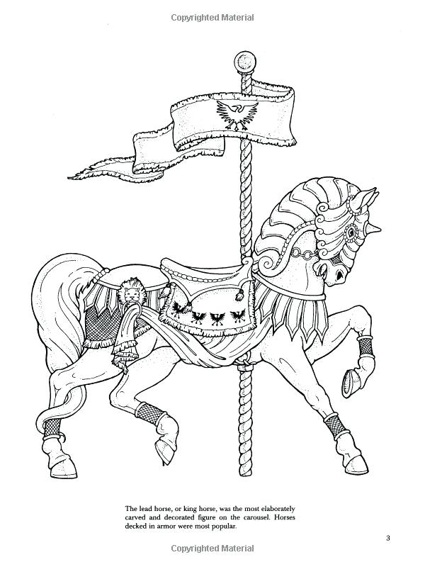 600x800 Coloring Page Of Horse Carousel