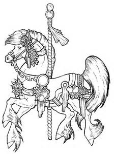 224x300 Free Coloring Pages Carousel Horse