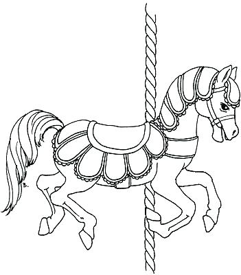 Carousel Horse Drawing at GetDrawings.com | Free for personal use ...