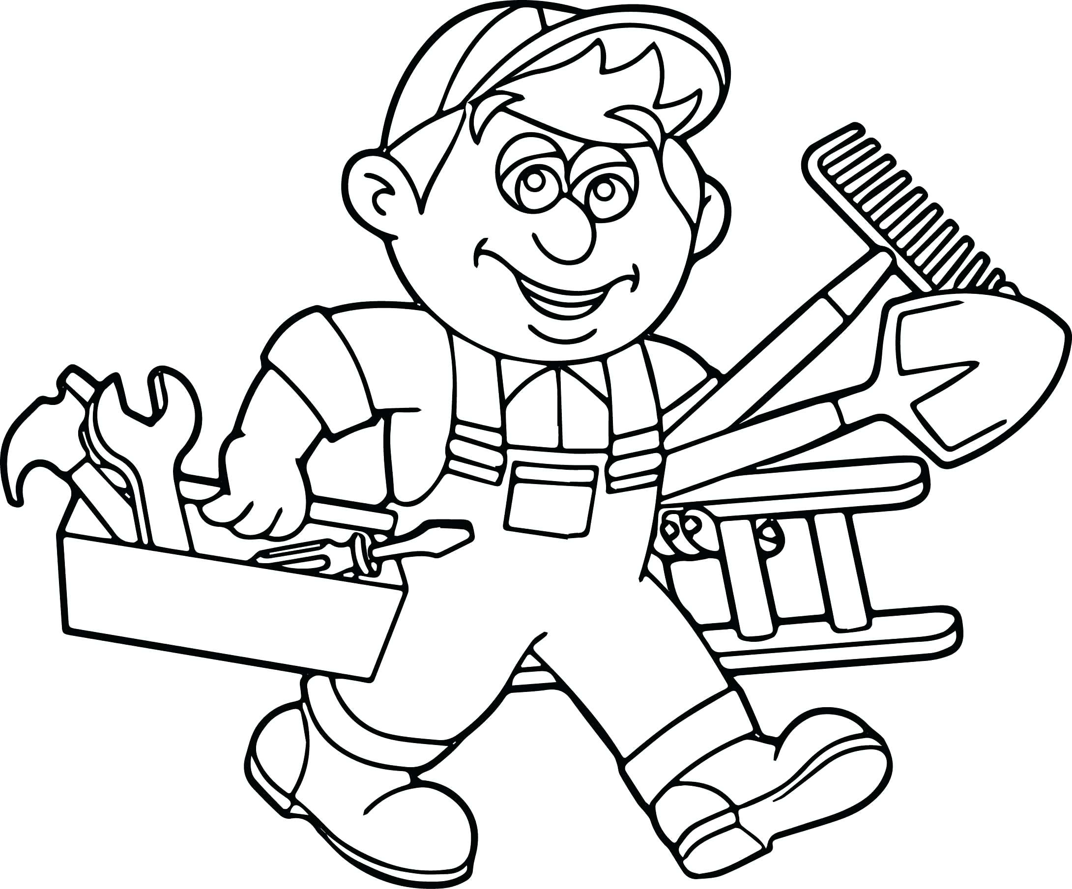 carpenter tools coloring pages - photo#22