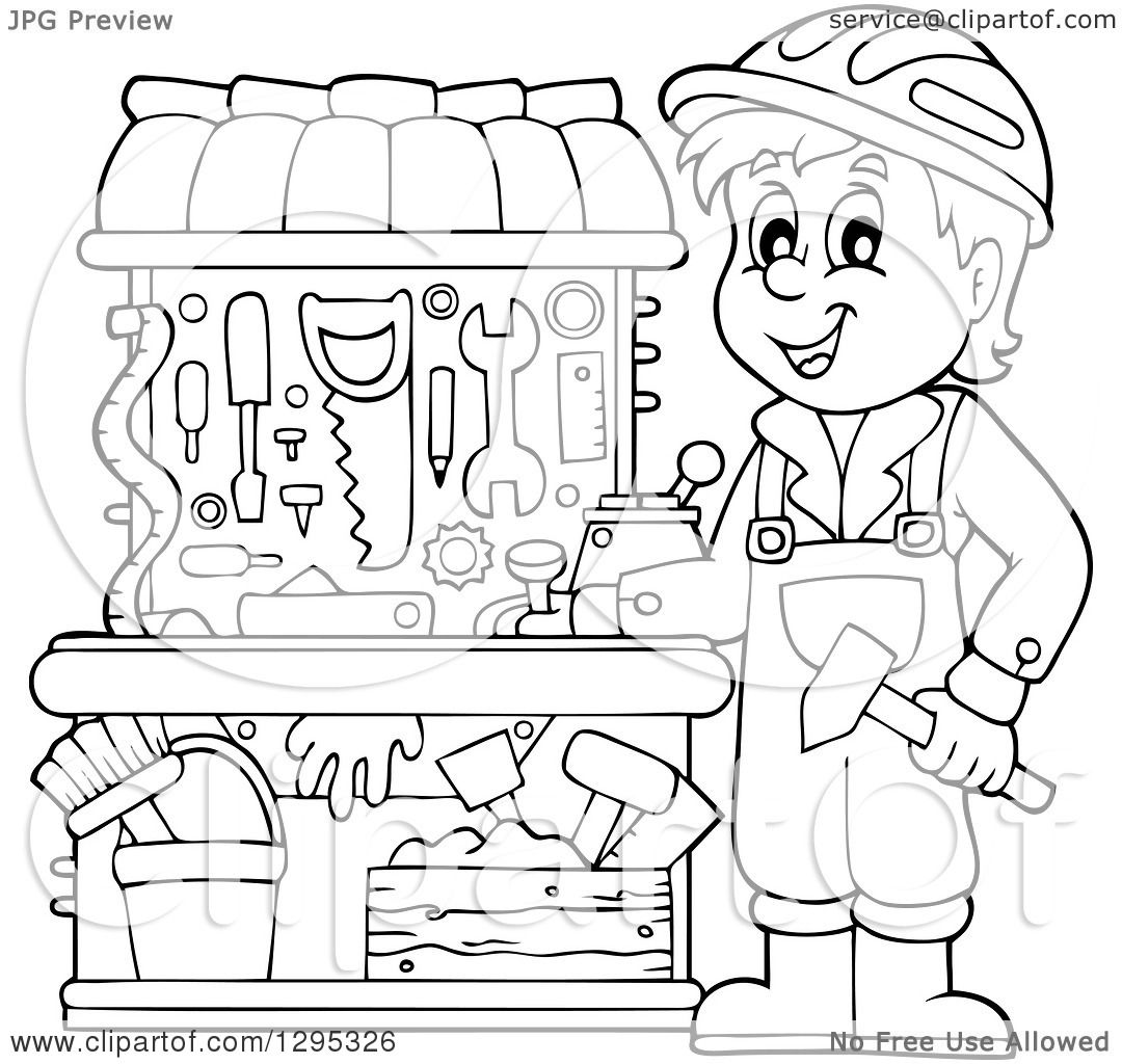 1080x1024 Clipart Of Happy Lineart Blacknd White Boy Playing
