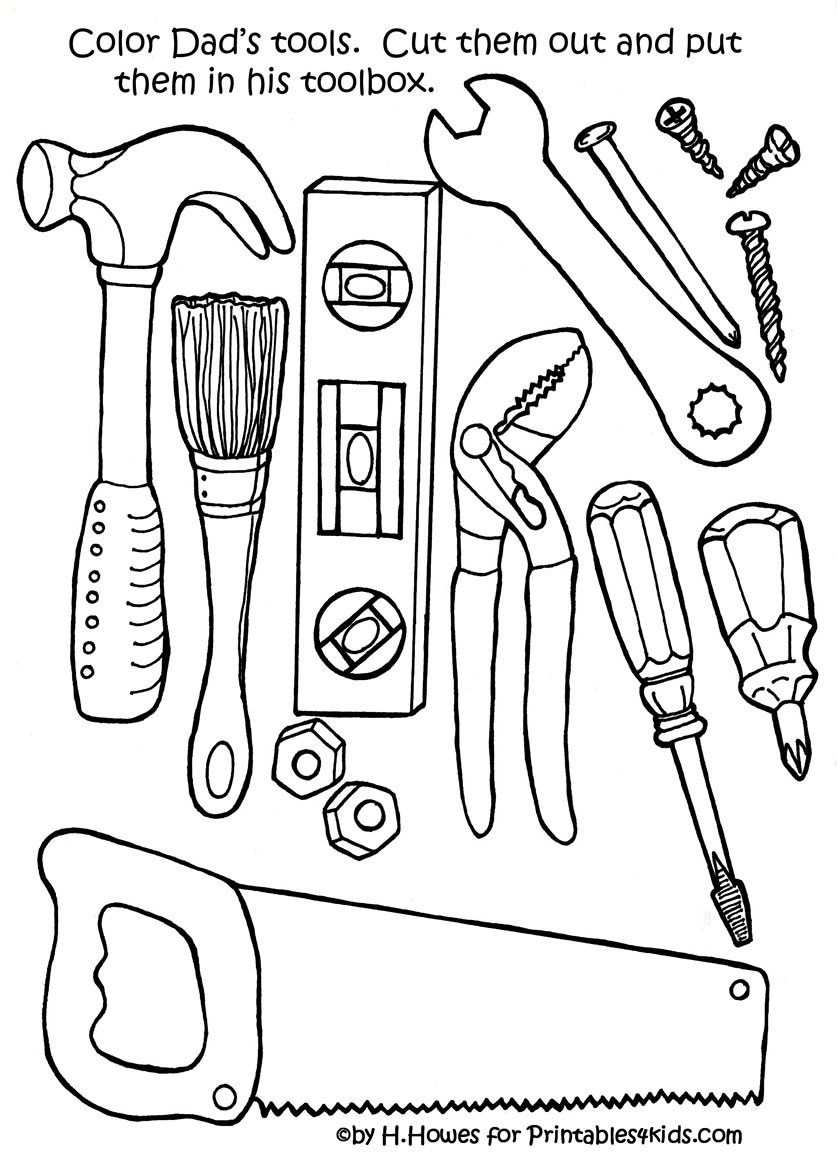 837x1159 Tool Coloring Pages