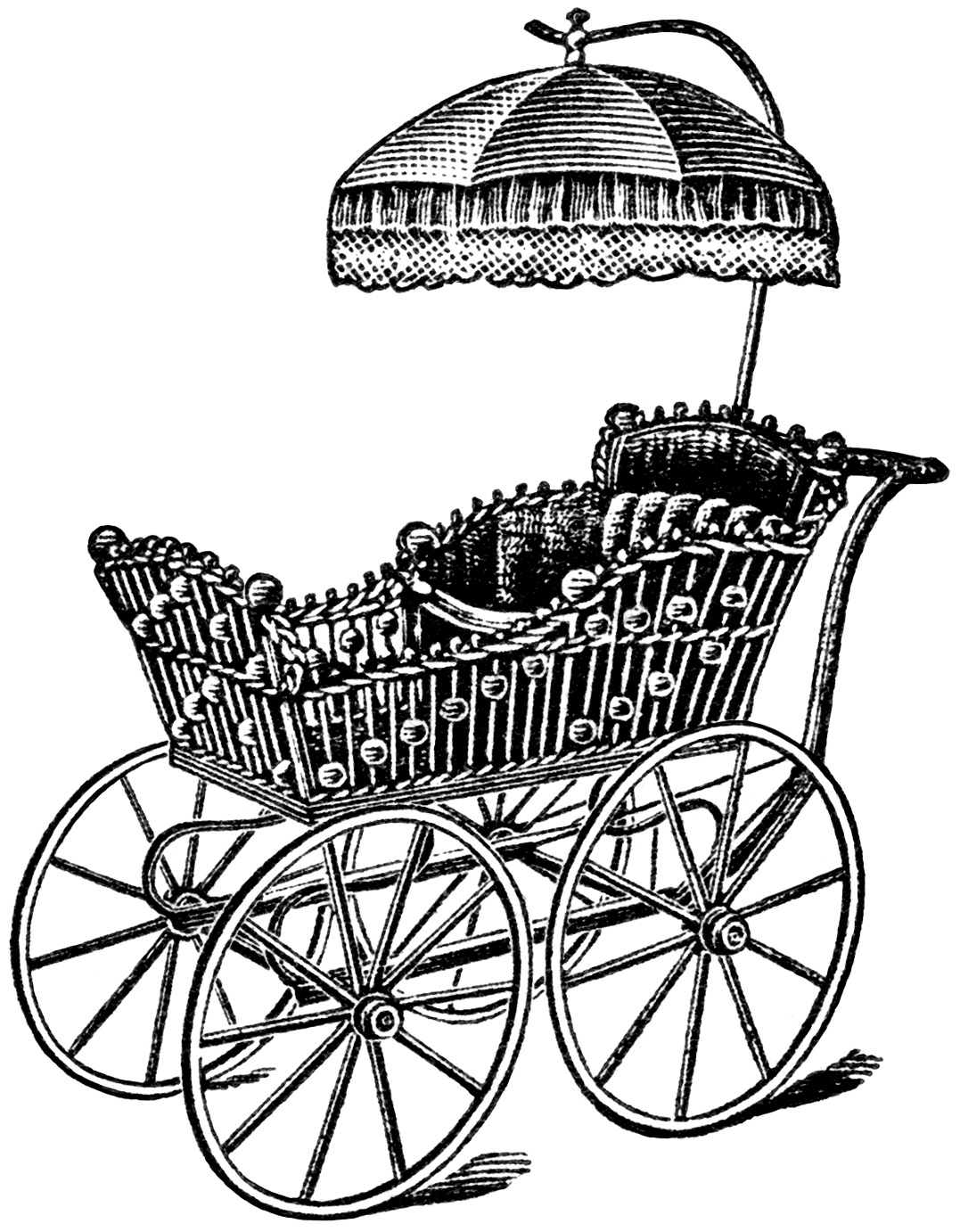1077x1382 Elegant Baby Carriage Clip Art Old Design Shop Blog