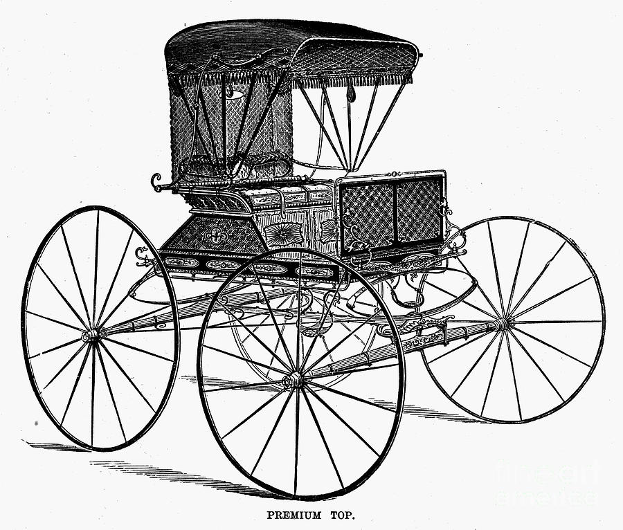 900x766 Horse Carriage, C1860 Photograph By Granger