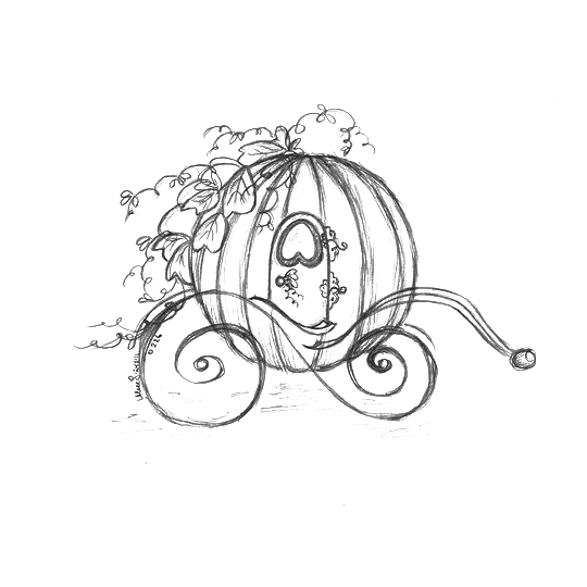 540x540 Cinderella Carriage Drawing Pumpkin Sketch
