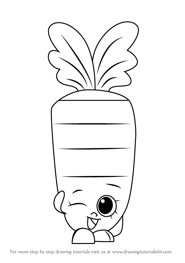 596x843 Learn How To Draw Wild Carrot From Shopkins (Shopkins) Step By