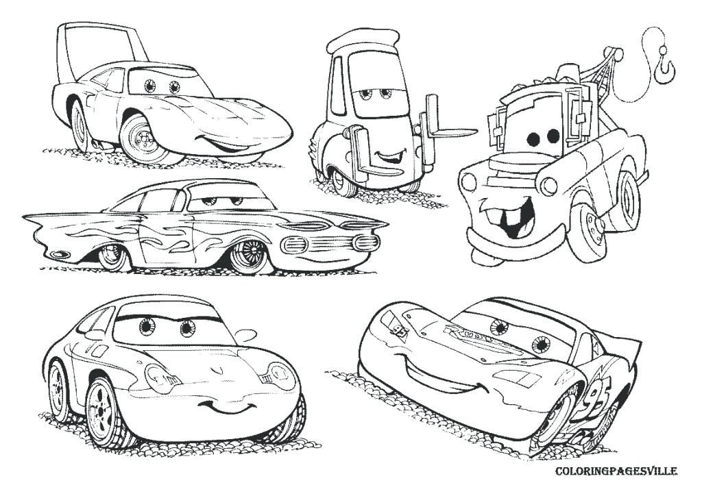 1024x724 Good Mater Coloring Pages Online To Print Lightning And Drawing