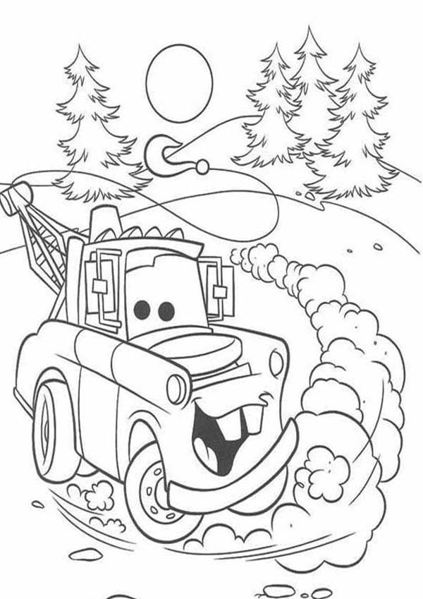 600x849 Ivan From Disney Cars 2 Coloring Page