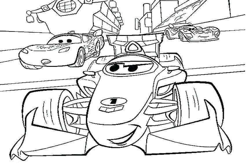 850x567 Cars 2 Coloring Pages Lightning Mcqueen