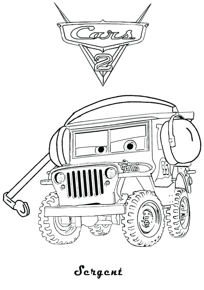 655x931 Cars 2 Coloring Pages