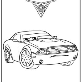 268x268 Cars 2 Coloring Pages Rod Torque Redline Archives
