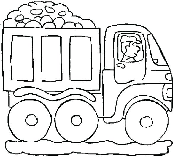 600x539 Coloring Pictures Of Cars And Trucks View Larger Coloring Pages