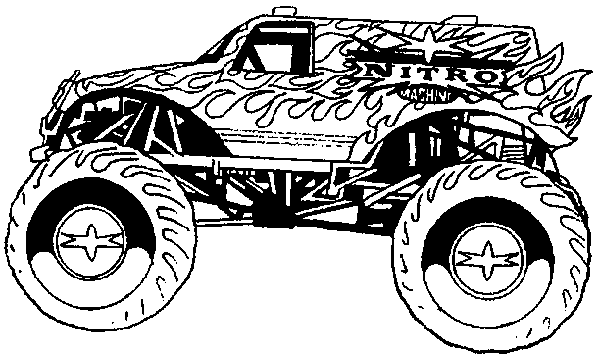 600x356 monster car coloring pages