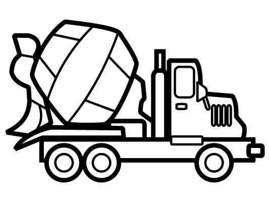 533x400 Cement Truck Coloring Page. Loads More Trucks And Cars