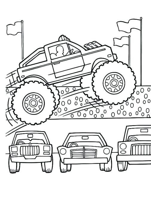 505x730 Coloring Pages Cars And Trucks Cars Truck Coloring Pages Provide