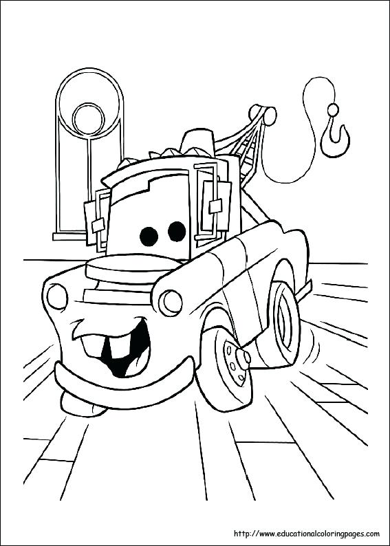 567x794 Coloring Page Of A Car Cars Cartoon Coloring Pages Car Sally