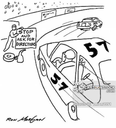 400x441 Drawn Caricature Race Car Driver