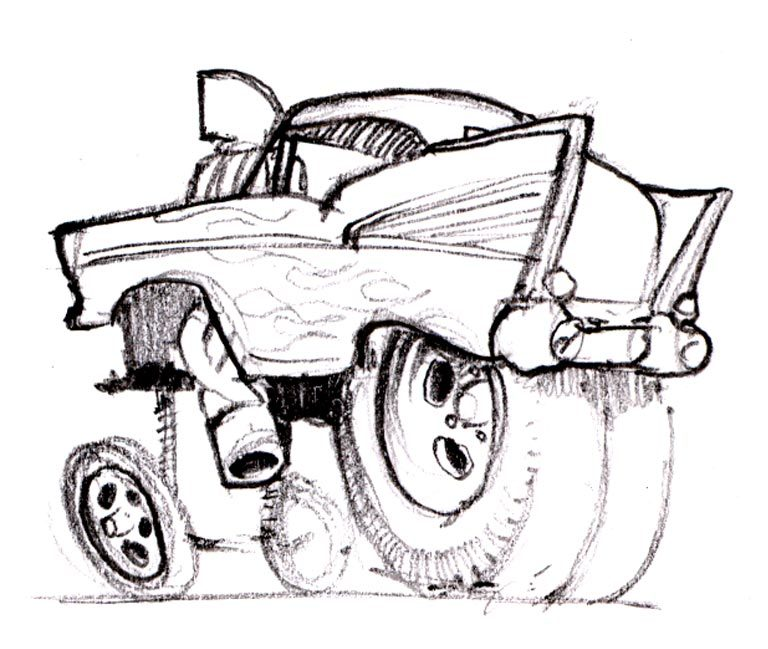 768x649 Cartoons And Hot Rods